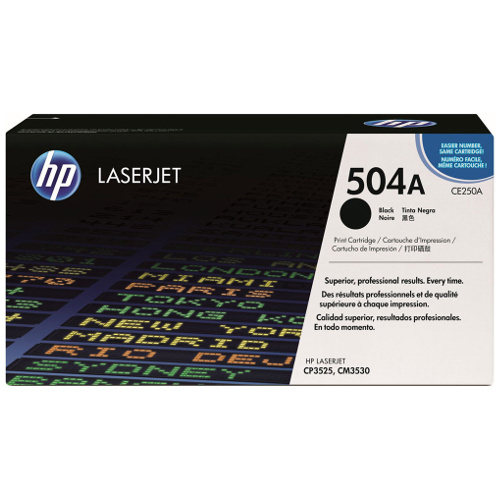 HP 504A Black (CE250A) (Genuine) title=