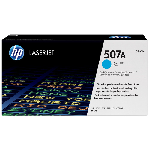 HP 507A Cyan (CE401A) (Genuine) title=