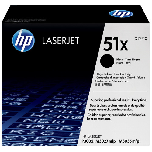 HP 51X Black High Yield (Q7551X) (Genuine) title=
