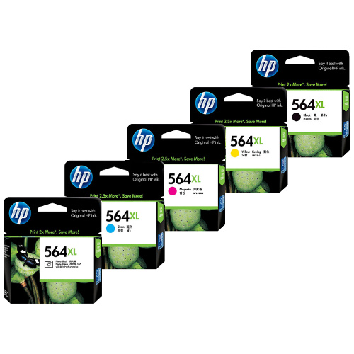 HP 564XL (CN684WA/CB322WA-CB325WA) 5 Pack Bundle (Genuine) title=