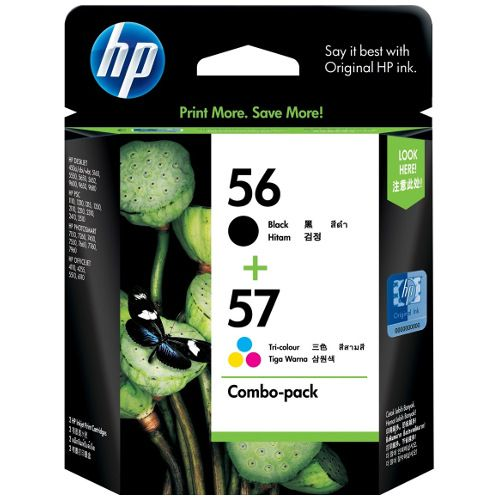 HP 56/57  (C6656AA-C6657AA)2 Pack Bundle (Genuine) title=