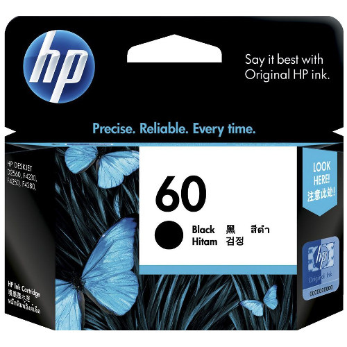 HP 60 Black (CC640WA) (Genuine) title=