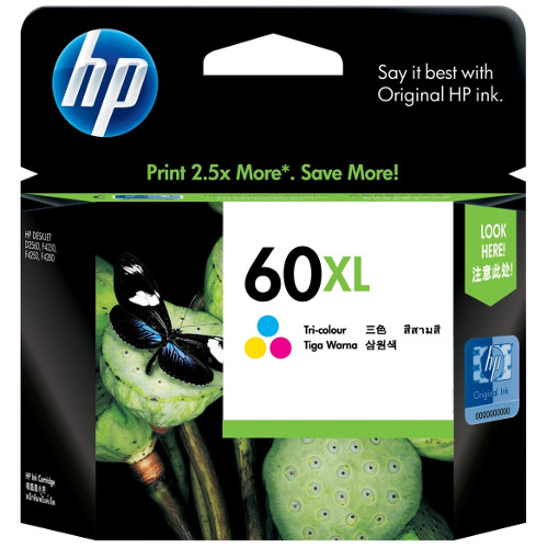 HP 60XL Colour High Yield (CC644WA) (Genuine) title=