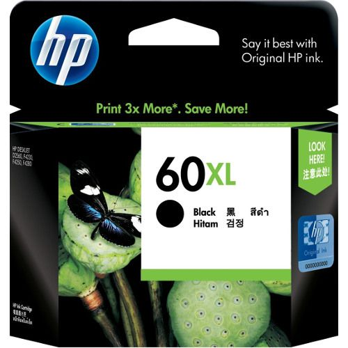 HP 60XL Black High Yield (CC641WA) (Genuine) title=