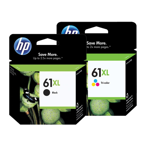 HP 61XL 2 Pack Bundle (Genuine) title=