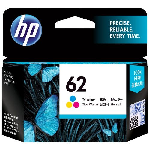 HP 62 Tri-Colour (C2P06AA) (Genuine) title=