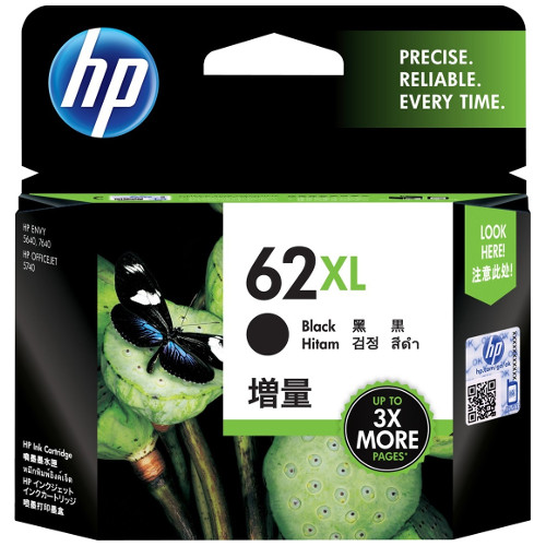 HP 62XL Black High Yield (C2P05AA) (Genuine) title=