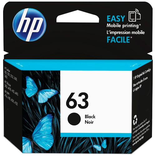 HP 63 Black (F6U62AA) (Genuine) title=