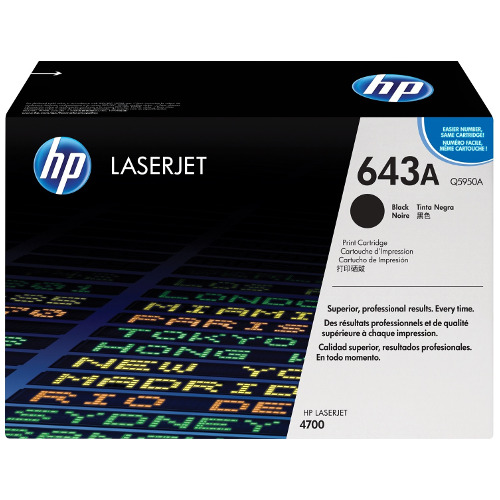 HP 643A Black (Q5950A) (Genuine) title=