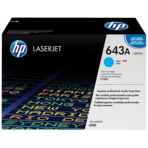 HP 643A Cyan (Q5951A) (Genuine) title=