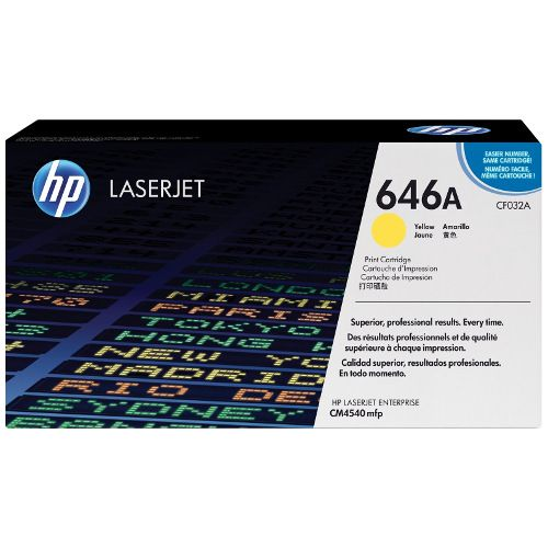 HP 646A Yellow (CF032A) (Genuine) title=