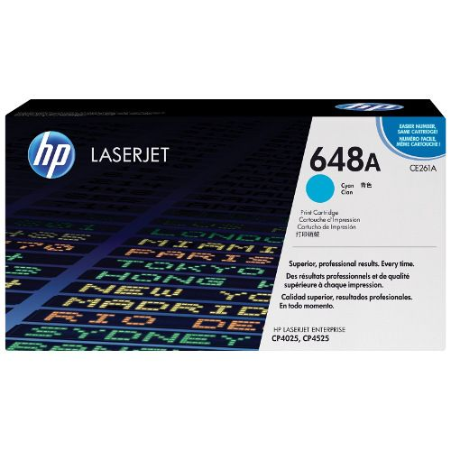 HP 648A Cyan (CE261A) (Genuine) title=