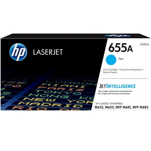 HP 655A Cyan (CF451A) (Genuine) title=