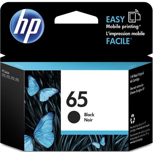HP 65 Black (N9K02AA) (Genuine) title=
