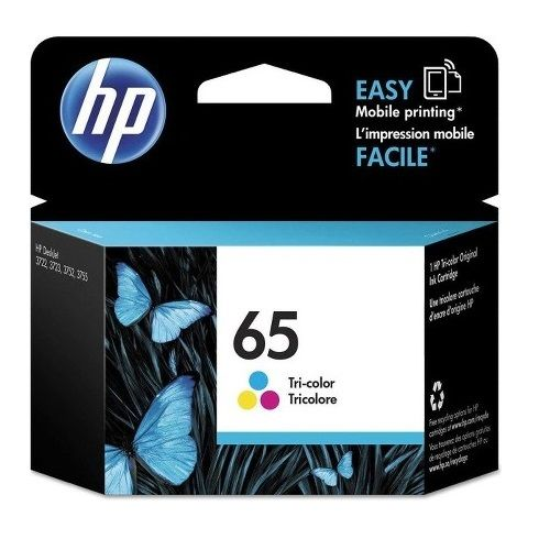 HP 65 Tri Colour (N9K01AA) (Genuine) title=