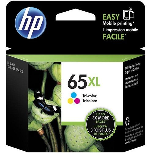 HP 65XL Tri Colour High Yield (N9K03AA) (Genuine) title=