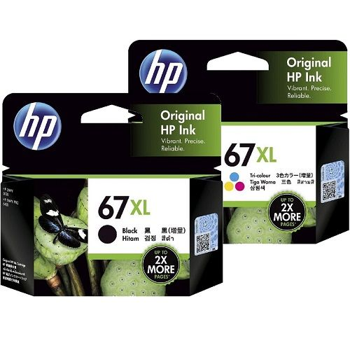 HP 67XL 2 Pack Bundle (3YM57AA-8AA) (Genuine)