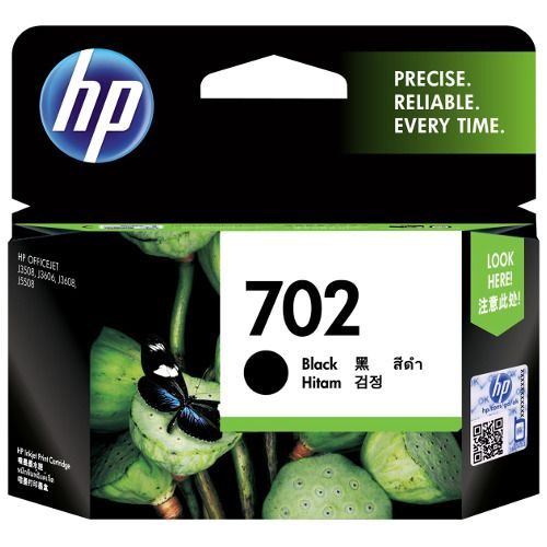 HP 702 Black (CC660AA) (Genuine) title=
