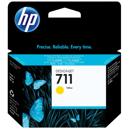 HP 711 Yellow (CZ132A) (Genuine) title=