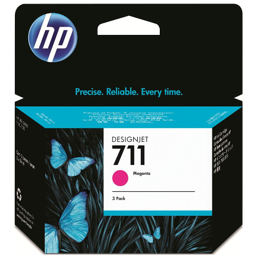 HP 711 3 Pack Magenta Value Pack (Genuine) title=