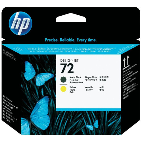 HP 72 Matt Black & Yellow Print Head (C9384A) title=