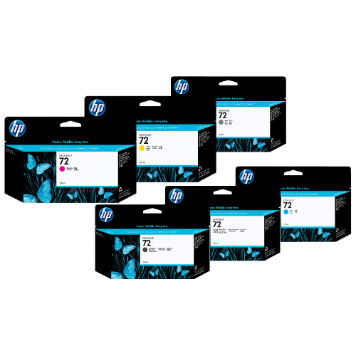 HP 72 (C9403A/C937#A) 12 Pack Bundle (Genuine) title=