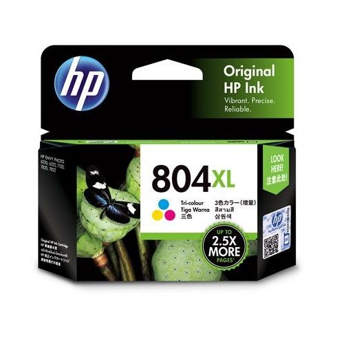 HP 804XL Tri-Colour High Yield (T6N11AA) (Genuine) title=