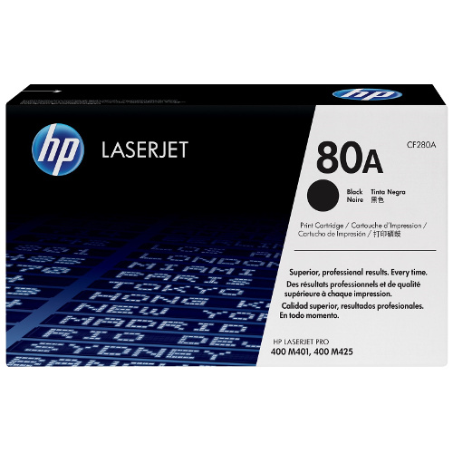 HP 80A Black (CF280A) (Genuine) title=