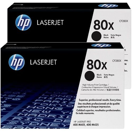HP 80X 2 Pack Bundle (CF280X) (Genuine) title=