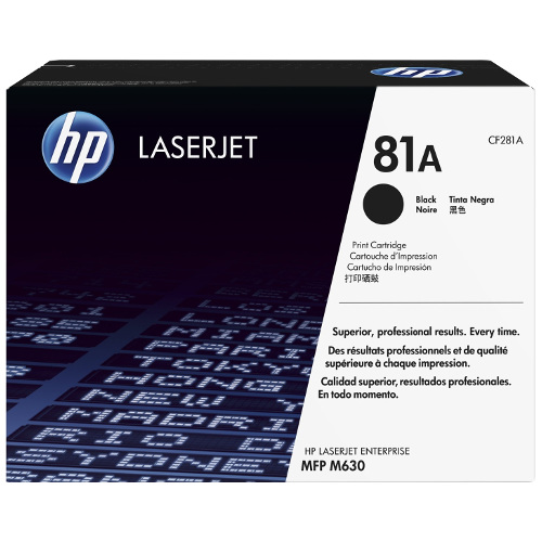 HP 81A Black (CF281A) (Genuine) title=