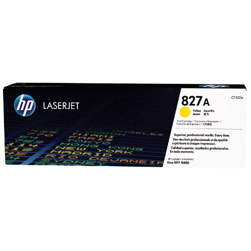 HP 827A Yellow (CF302A) (Genuine) title=