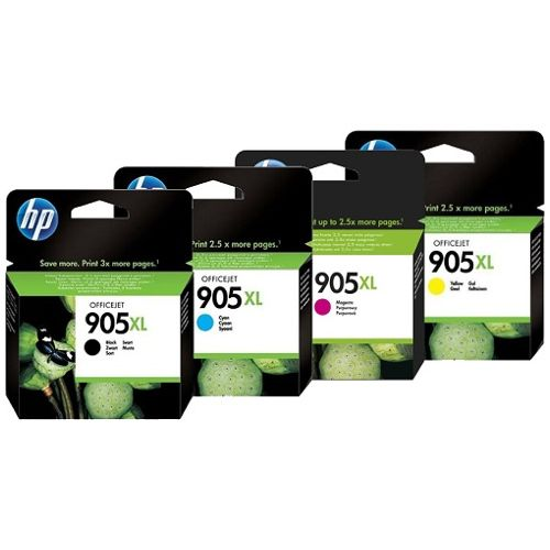 HP 905XL 4 Pack Bundle (T6M05/09/13/17AA) (Genuine) title=