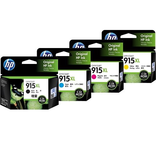 HP 915XL 4 Pack Bundle (3YM19AA-22AA) (Genuine) title=