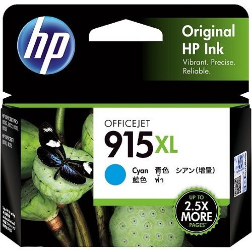 HP 915XL Cyan High Yield (3YM19AA) (Genuine) title=