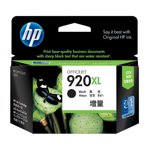 HP 920XL Black High Yield (CD975AA) (Genuine) title=