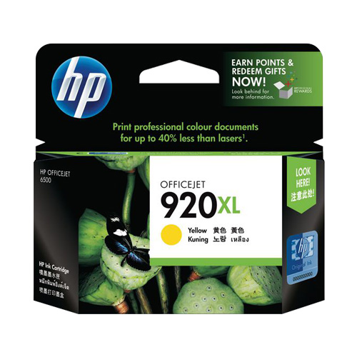 HP 920XL Yellow High Yield (CD974AA) (Genuine) title=