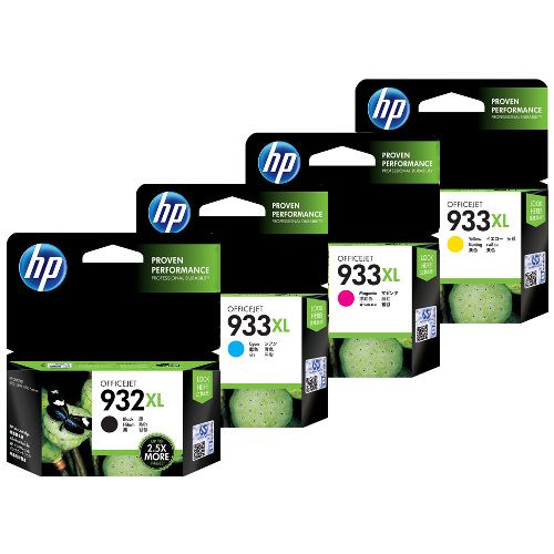 HP 932XL/933XL 4 Pack Bundle (CN053AA-CN056AA) (Genuine) title=
