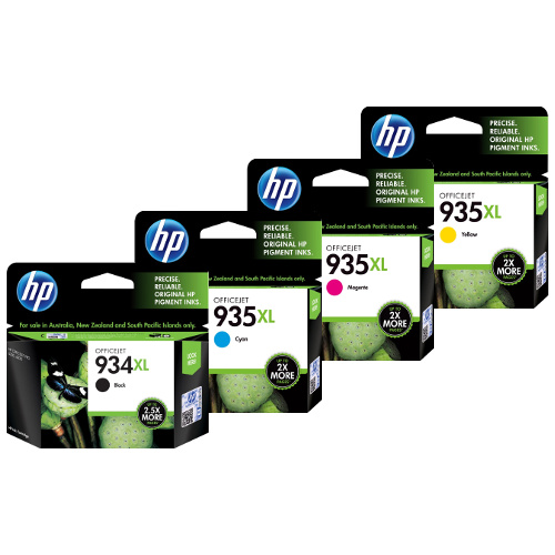 HP 935XL/934XL 4 Pack Bundle (Genuine) title=