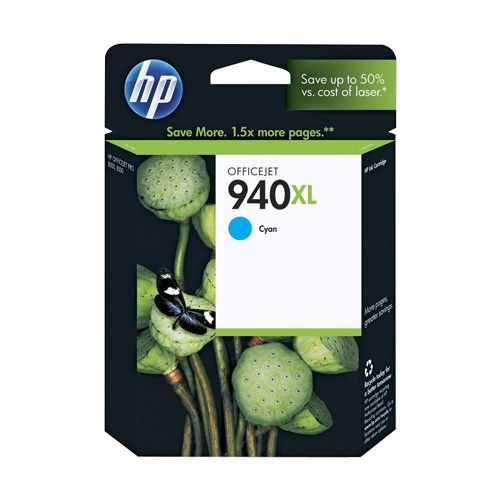 HP 940XL Cyan High Yield (C4907AA) (Genuine) title=
