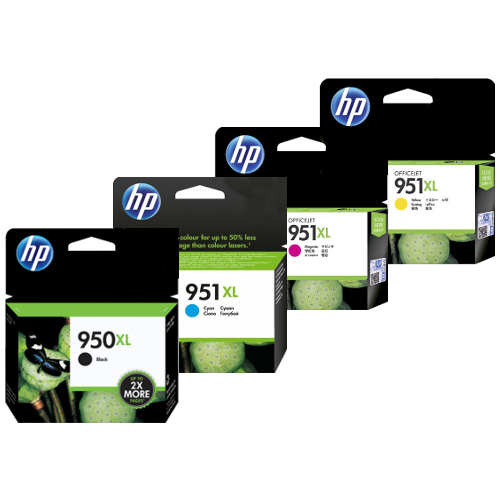 HP 950XL/951XL (CN045AA-CN048AA) 4 Pack Bundle (Genuine) title=