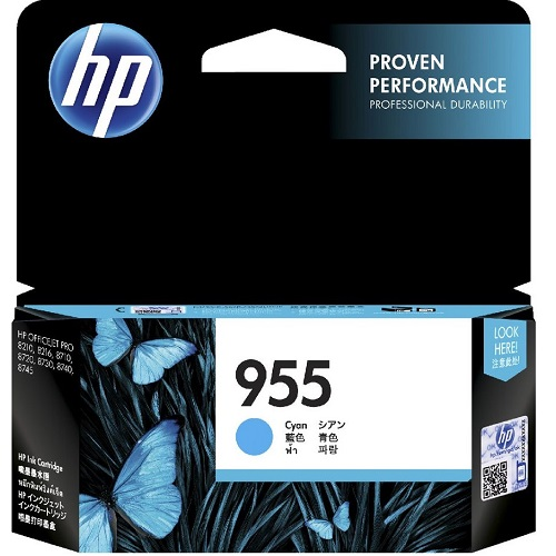 HP 955 Cyan (L0S51AA) (Genuine) title=
