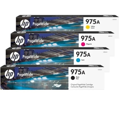 HP 975A 8 Pack Bundle (L0R88/91/94/97AA) (Genuine) title=
