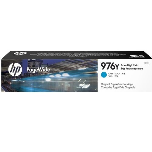 HP 976Y Cyan Extra High Yield Ink Cartridge (L0R05A) (Genuine) title=