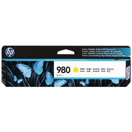 HP 980 Yellow (D8J09A) (Genuine) title=