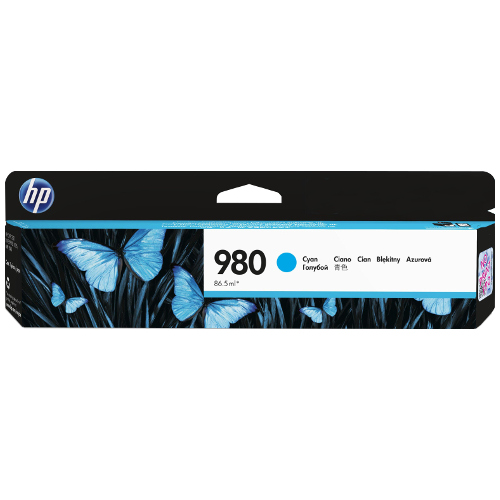 HP 980 Cyan (D8J07A) (Genuine) title=