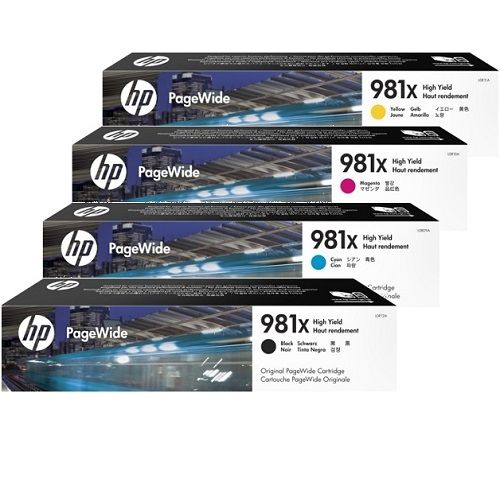 HP 981X 4 Pack Bundle (L0R09A-12A) (Genuine) title=