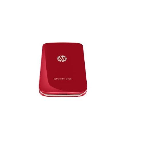 HP Sprocket Plus Red Colour Portable Wireless Photo Printer (2FR87A) title=