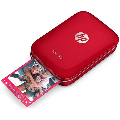 DISCONTINUED - HP Sprocket Red Colour Portable Wireless Photo Printer title=