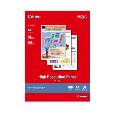 Canon HR-101NA4-50 A4 High Resolution Paper title=