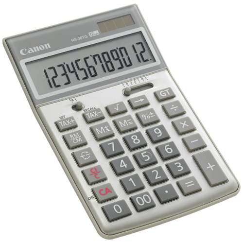 Canon HS-20TG Calculator title=